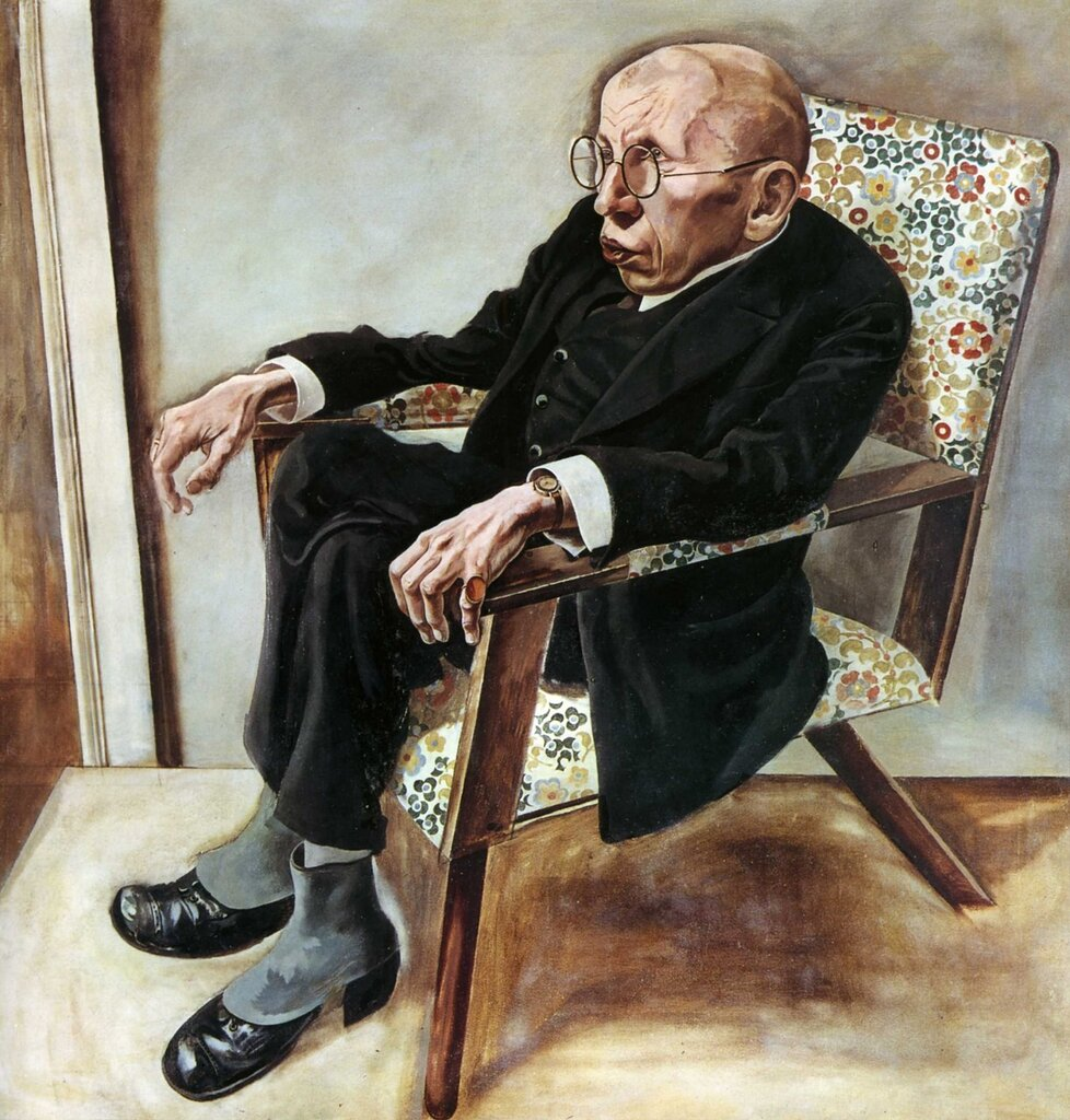 Георг Гросс. Портрет Макса Германа-Найссе.1925