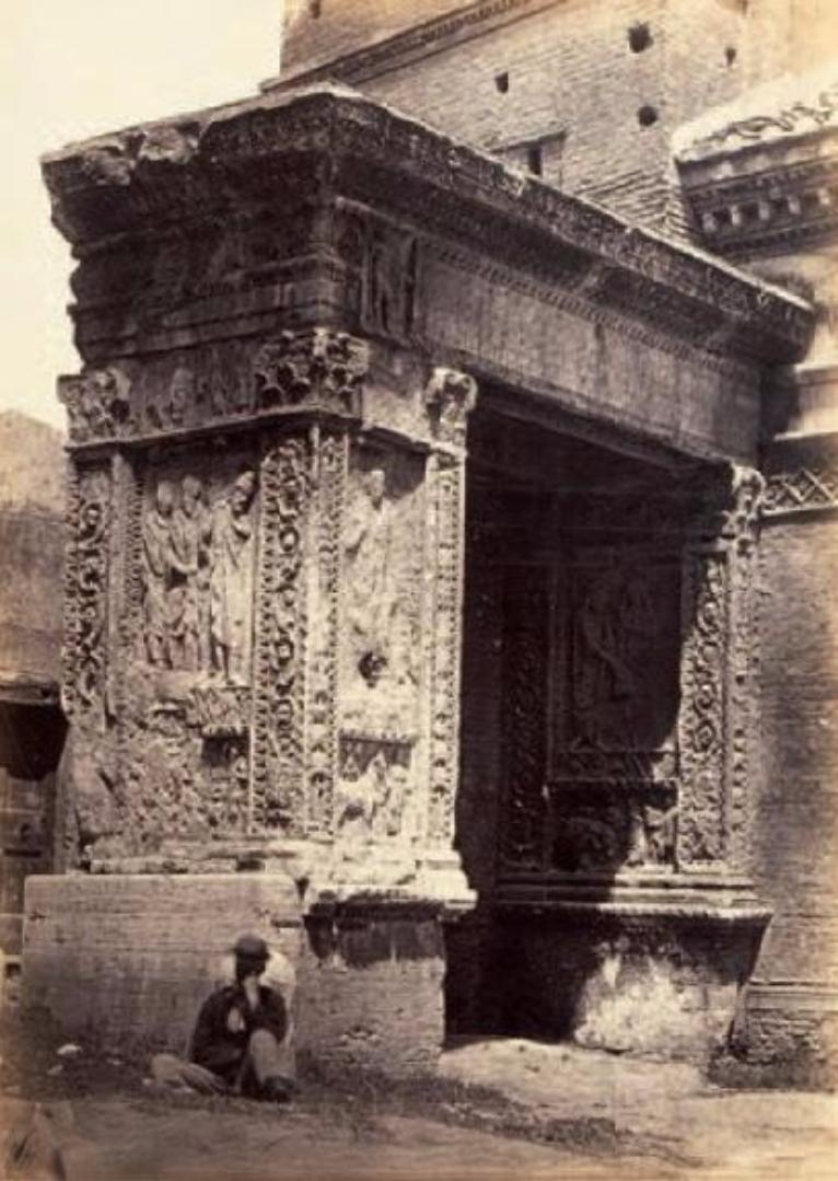 Триумфальная арка Септимия Севера, ок 1860