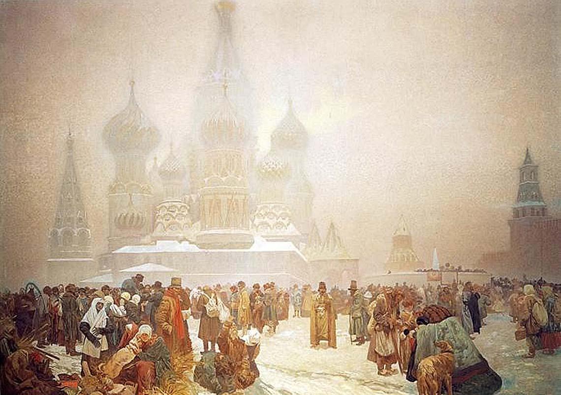 Отмена крепостного права на Руси. 1914  Альфонс Муха (1860-1939)