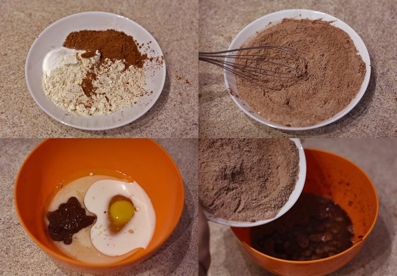 Шоколадные капкейки - пошаговый рецепт с фото #4.