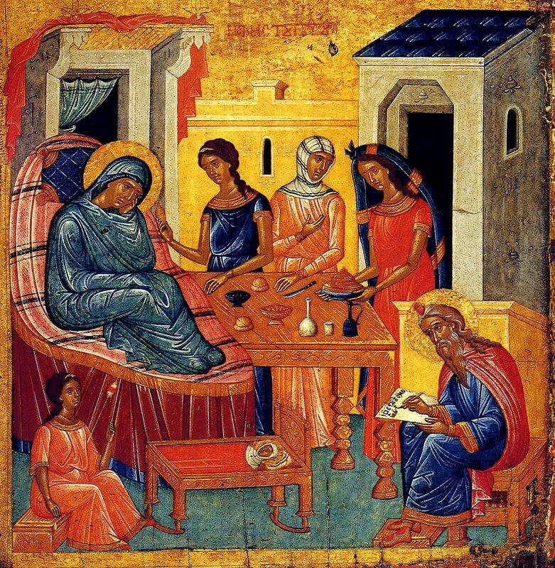 Рождество Святого Иоанна Предтечи. Икона. Крит, вторая половина XV века.