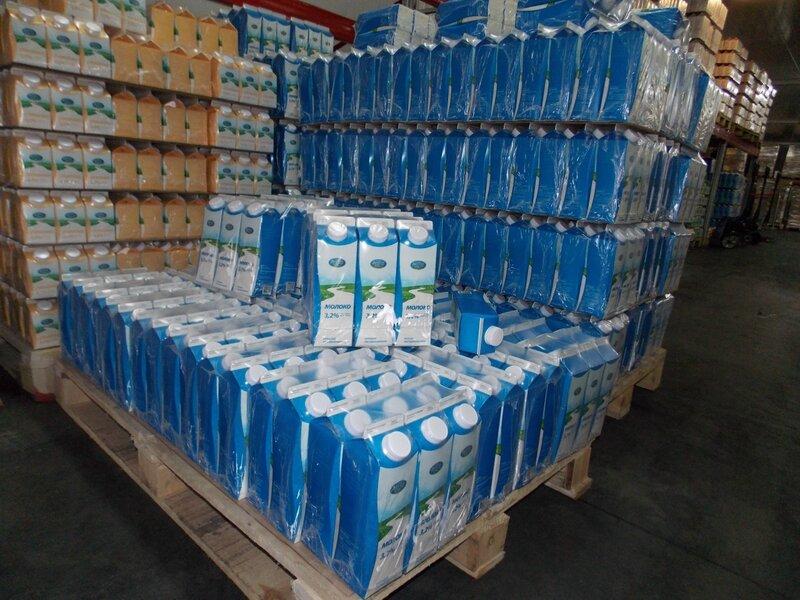 Торжокский молочный комбинат. Склад готовой продукции