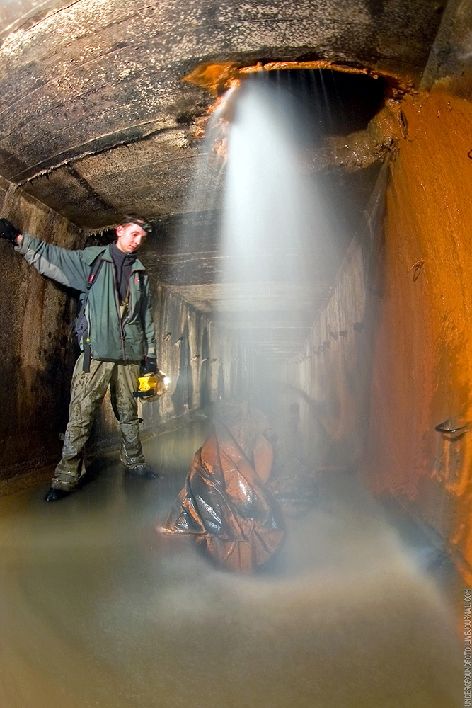 Водопад в тоннеле
