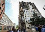 Сгоревшее здание в Баку, 19.05.2015