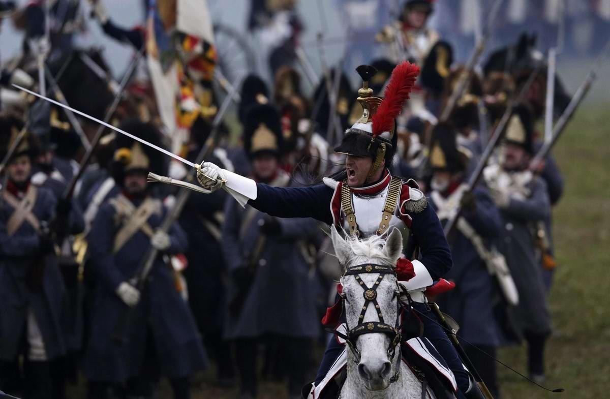 Наполеон под Аустерлицем - реконструкция битвы 1805 года (1)