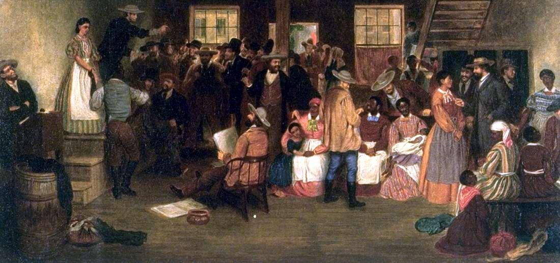 Аукцион по продаже рабов в городе Ричмонд, штат Вирджиния (1862 год)