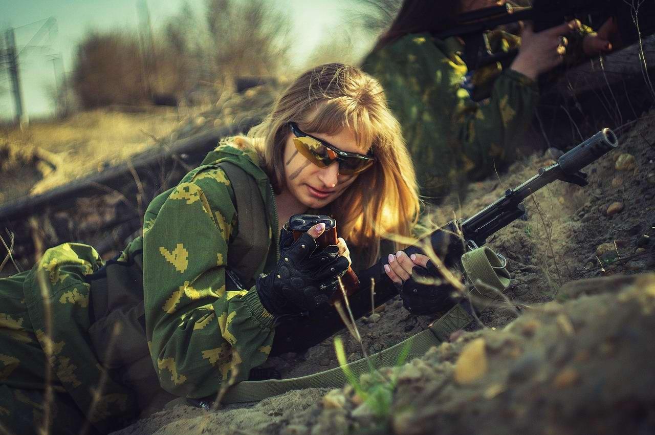 Боевые подруги: Фотосессия в стиле Military - лазертаг клуб - Отряд 61 - (Ростов-на-Дону) (2)