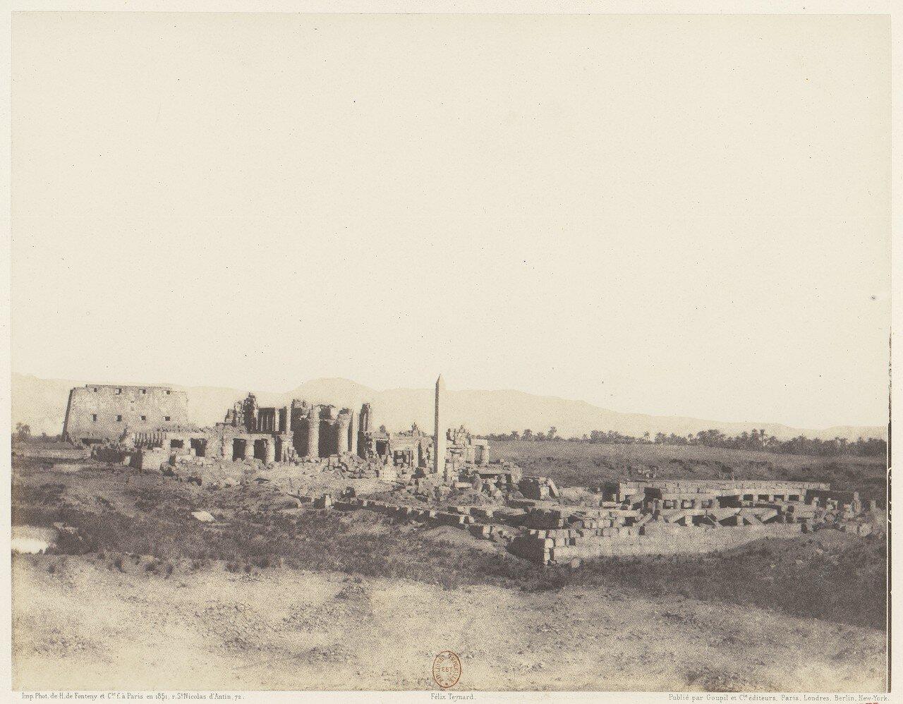 Карнак. Общий вид руин с юго-востока