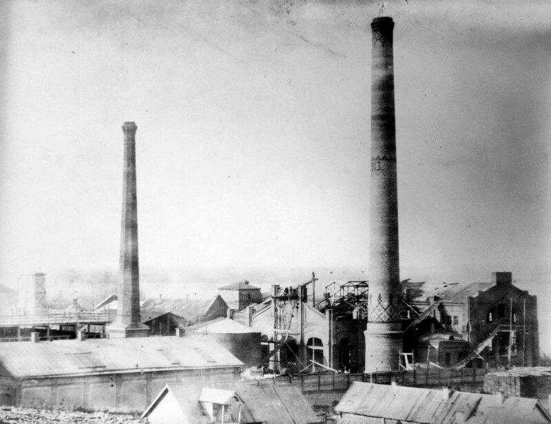 Строительство новых корпусов центральной электрической станции в Самаре 1913 г.