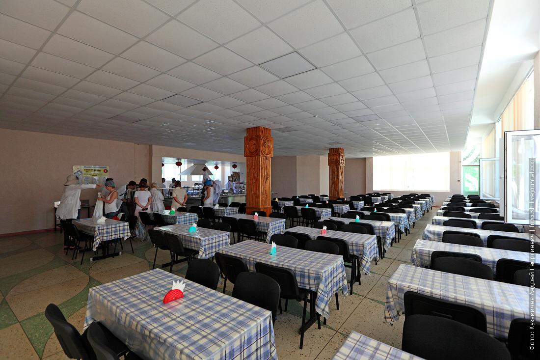 Крым детский оздоровительный лагерь Радость столовая