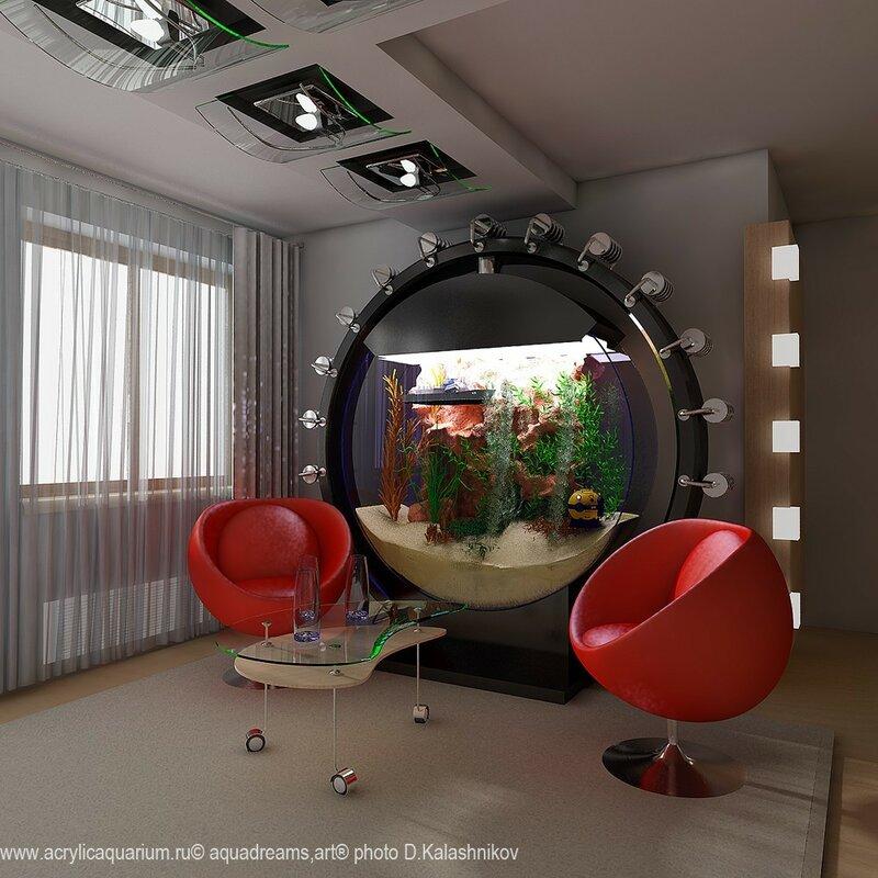 Как вписать аквариум в интерьер квартиры