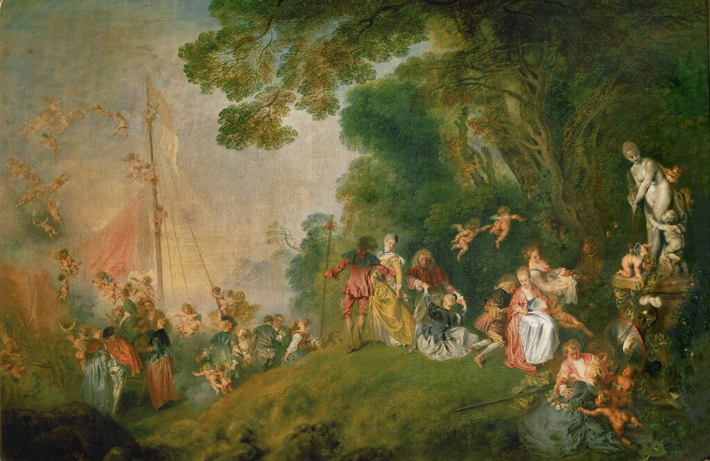 Паломничество на Киферу (между 1718 и 1720) (129 х 194) (Берлин, дворец Шарлоттенбург).jpg