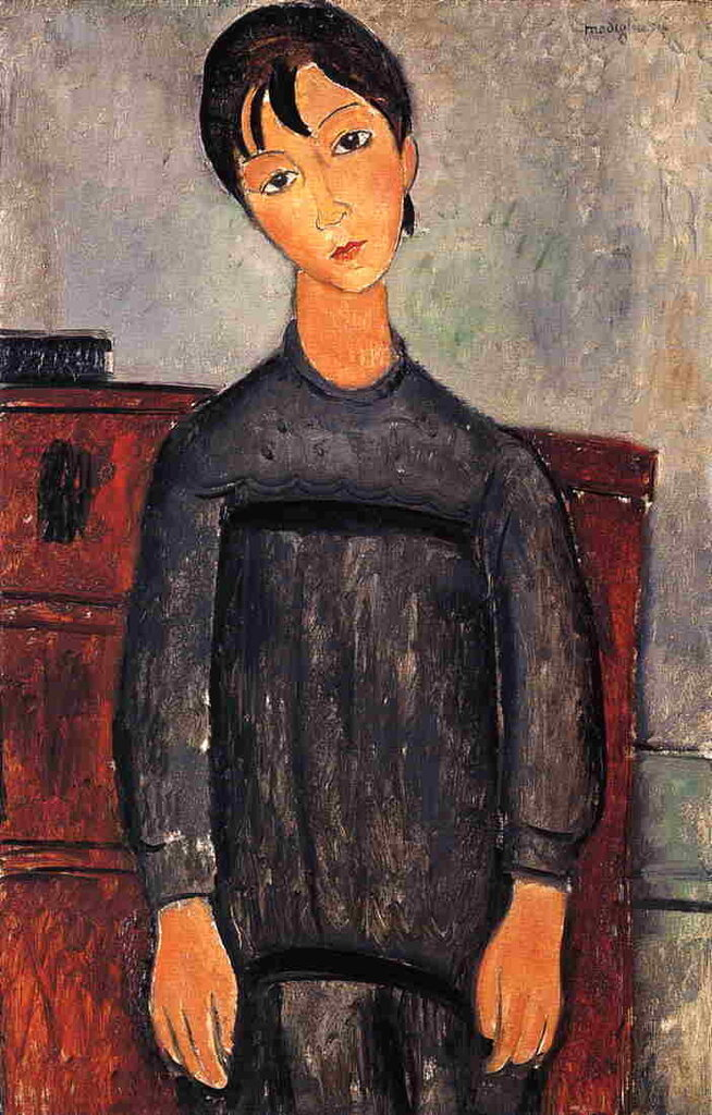 Little Girl in Black Apron - 1918 - Kunstmuseum Basel - Painting - oil on canvas.jpeg