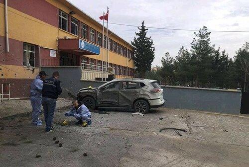 турция провинция килис со стороны сирии прилетели снаряды в школу