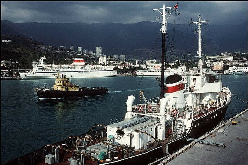 Ялтинский порт. 1988 год.