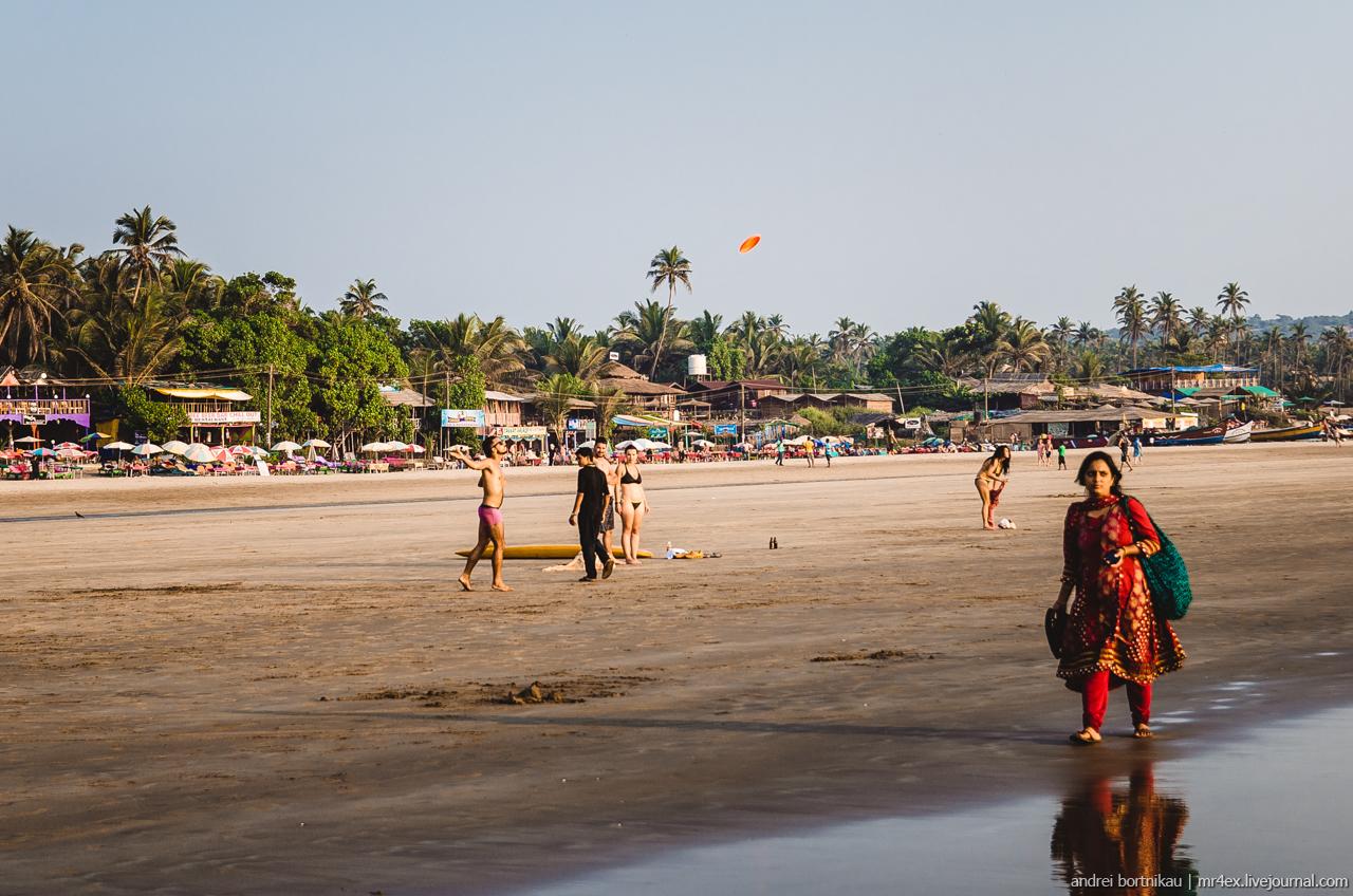 Северный Гоа, пляж Арамболь