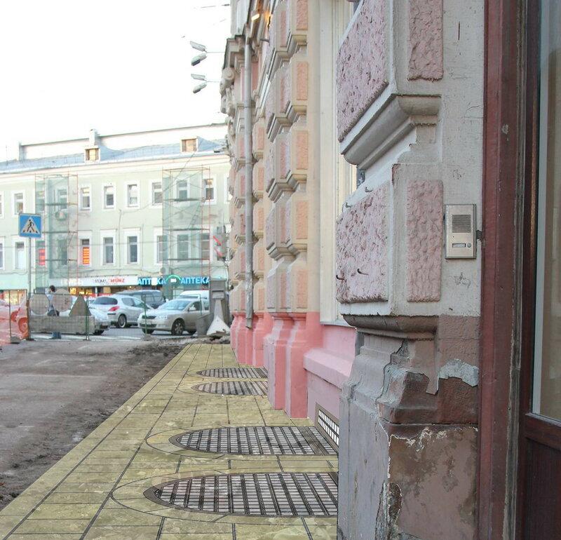 Световые решётки у дома Кузнецова на Мясницкой. Реконструкция
