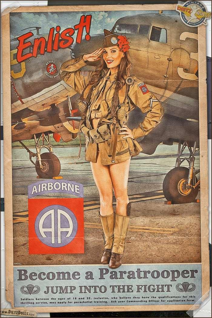 Армейский pin-up в стиле 1940-х годов от американского художника Britt Dietz (23)