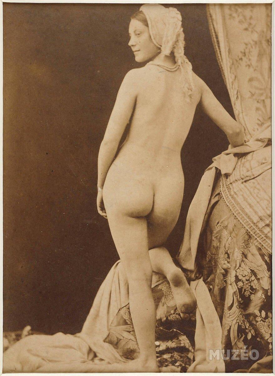 1850. Обнаженная женщина. Вид со спины