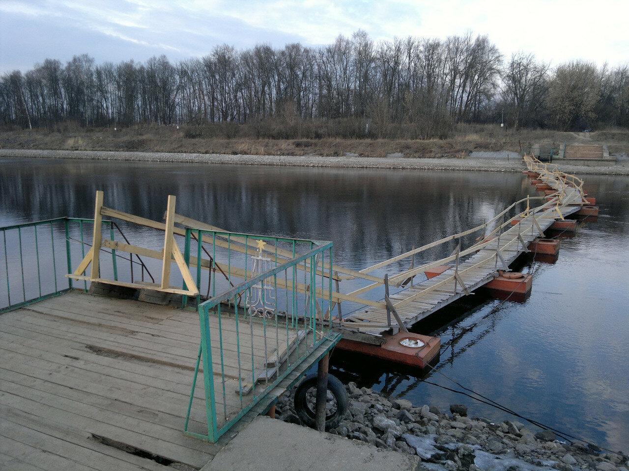 наплавной мост через канал