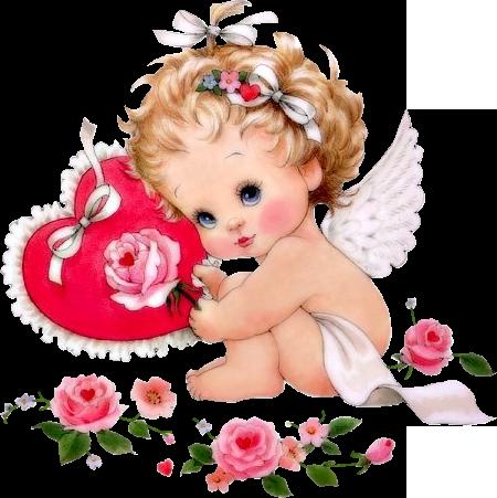 картинки ангелочки с сердечками