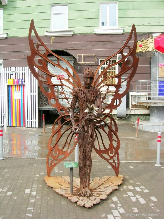 Пермь. Железная скульптура Мотылек
