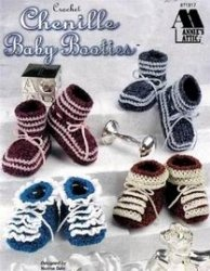 Chenille Baby Booties