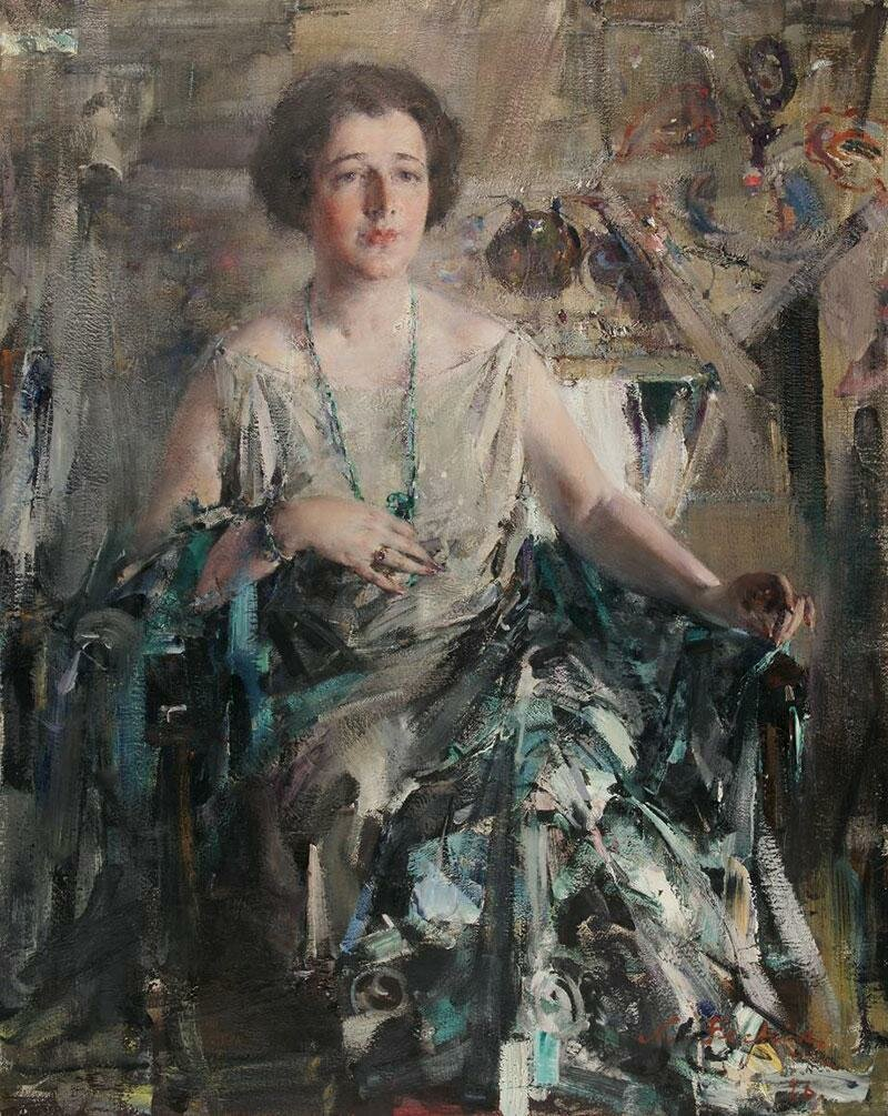 Николай Фешин, «Портрет Дуэйн Ван Вехтен», 1926 год.