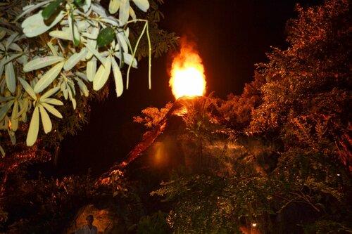Извержение вулкана в дино парке