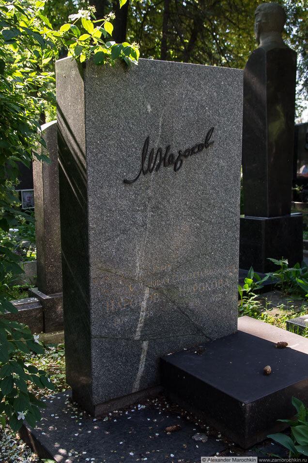 Михаил Нароков, могила на Новодевичьем кладбище