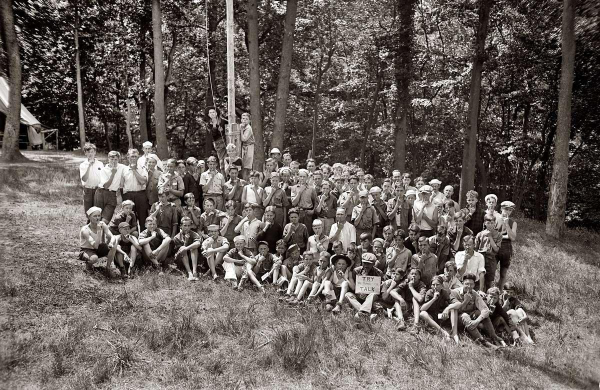 Американские бойскауты начала 20-го века на снимках фотографов (27)