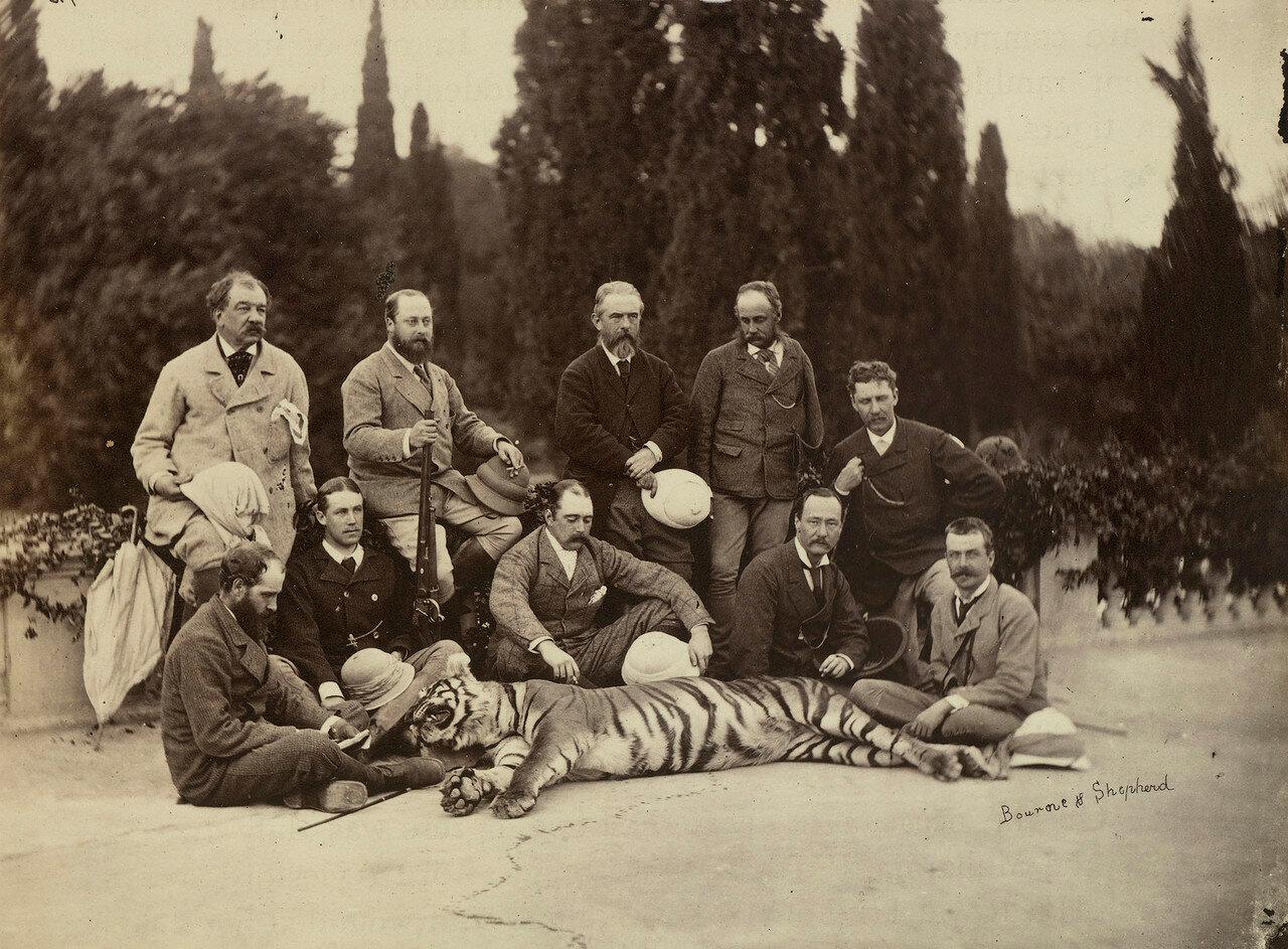 87. Принц Уэльский возле убитого тигра