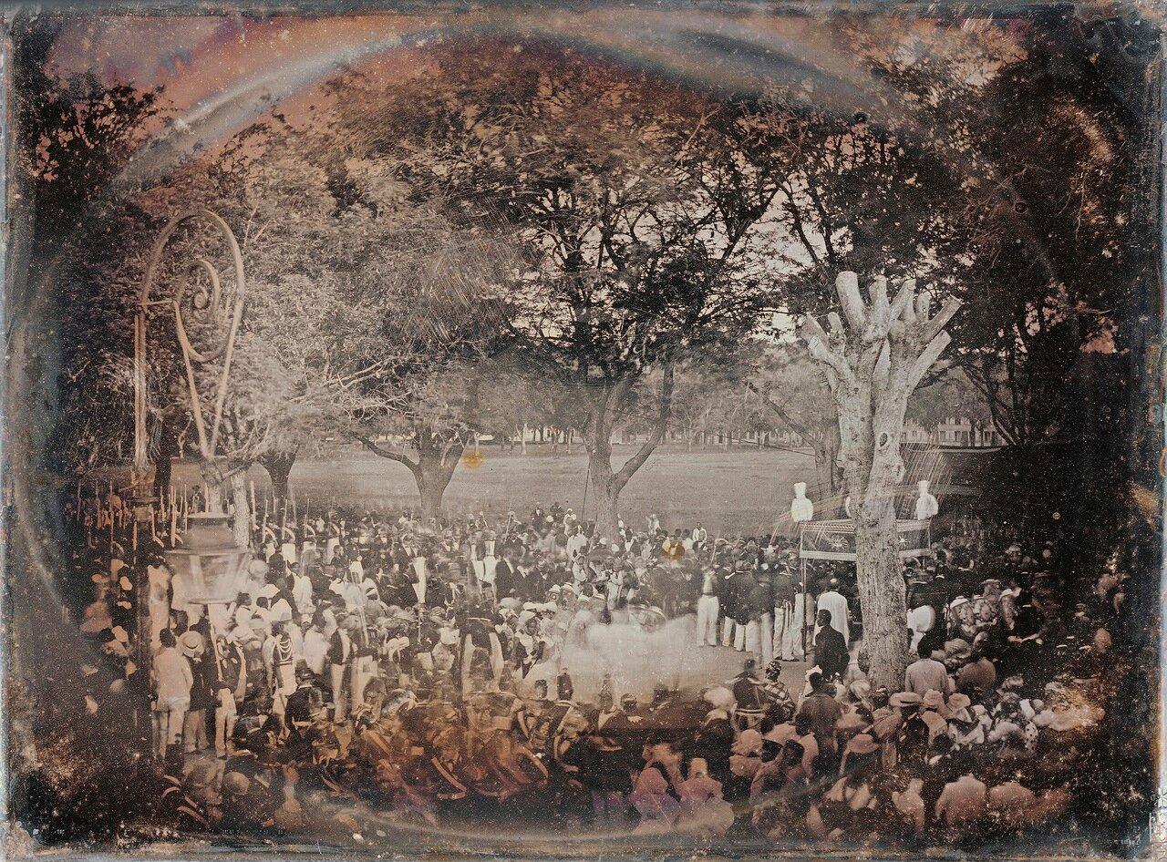 1850. Религиозная церемония на Мартинике