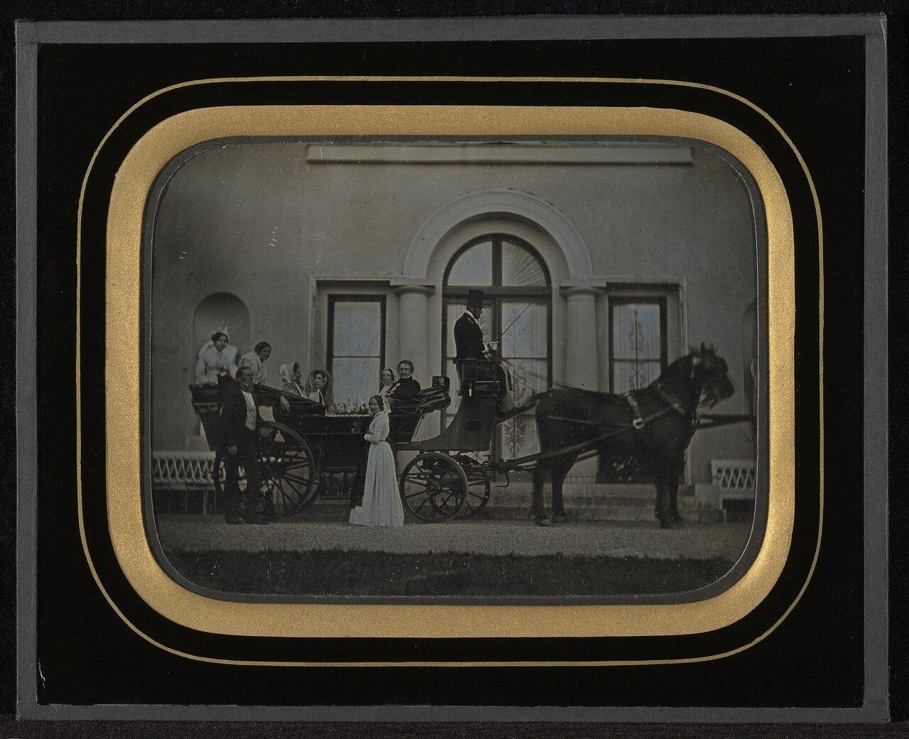 1849. В экипаже. Швейцария