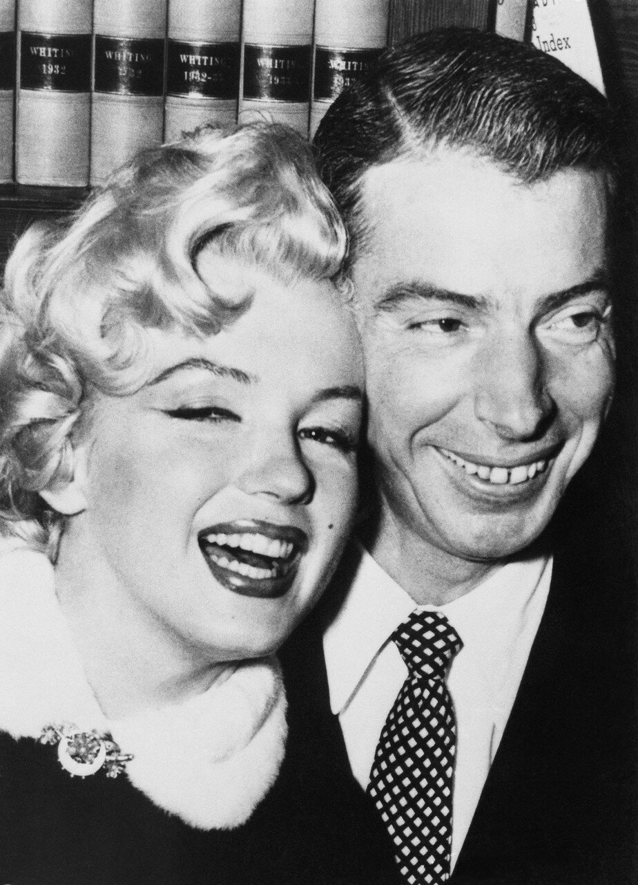 Marilyn Monroe and Joe DiMaggio Smiling