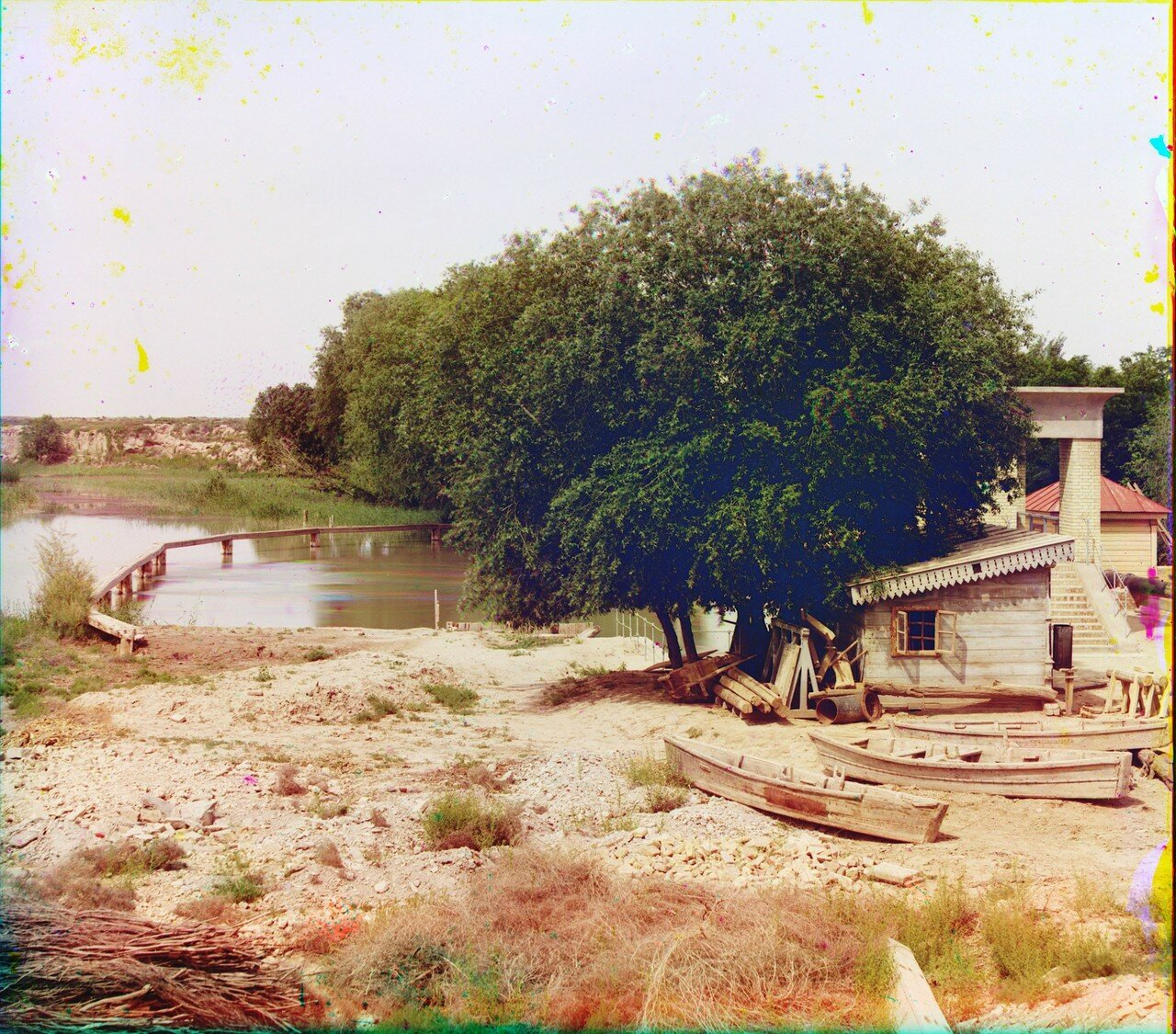 Окрестности Мерва. Байрам-Али. Мургабское имение. У Гундукушской плотины