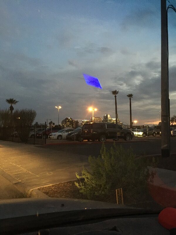 Объёмный прямоугольник в Финиксе, штат Аризона, США 10 августа 2015 года