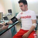Медобследование второй группы футболистов Спартака