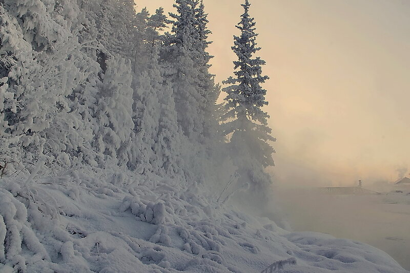 Звучат мелодии зимы... Декабрьское морозное утро...