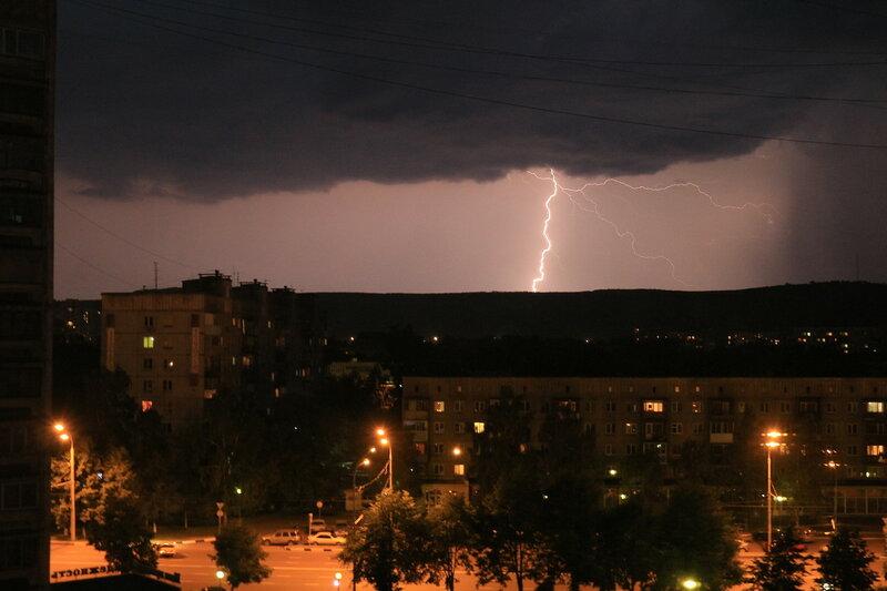 Молния над Новокузнецком