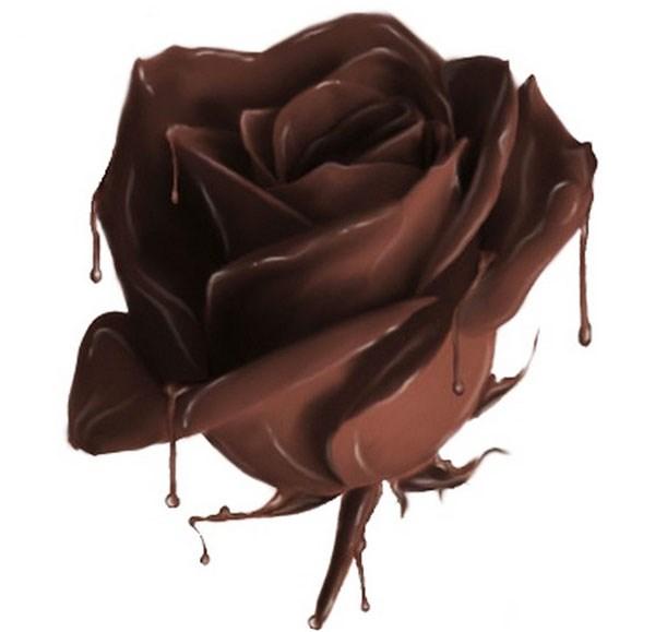 Всемирный день шоколада 11 июля. Шоколадная роза