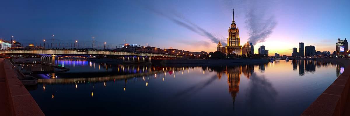 гостиница Украина Москва река