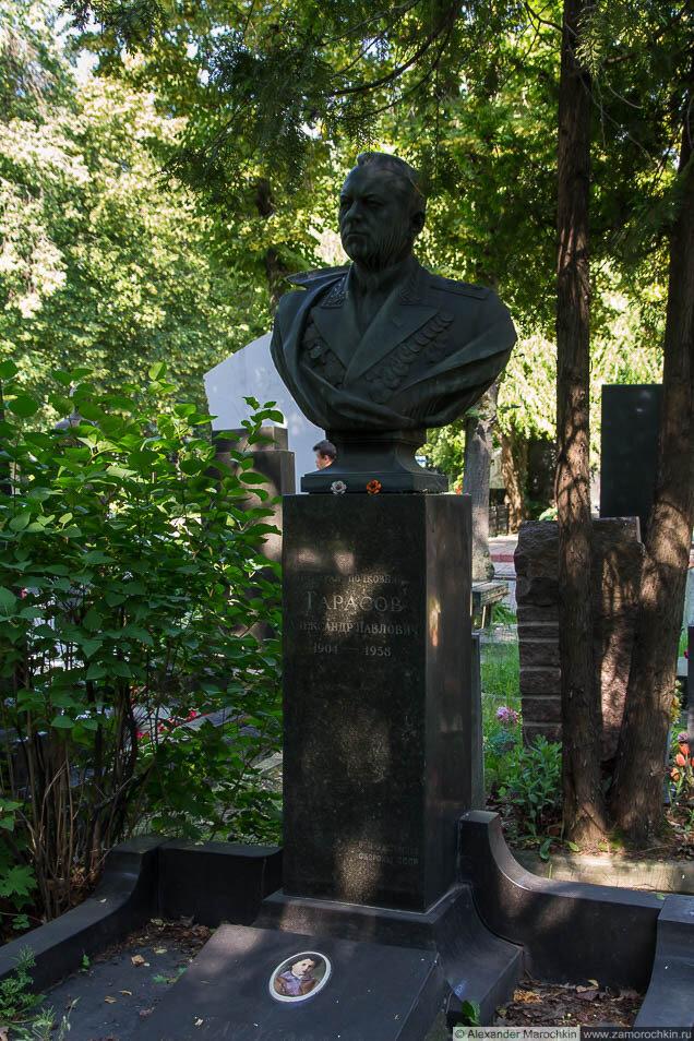 Могила Тарасов Александр Павлович на Новодевичьем кладбище