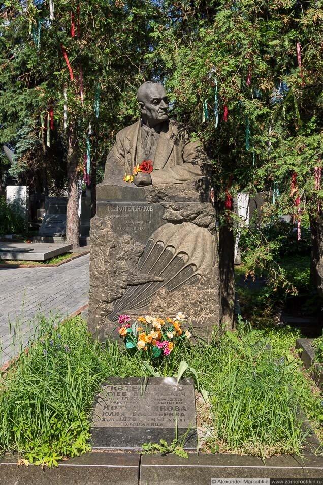Котельников Глеб Евгеньевич на Новодевичьем кладбище (могила)