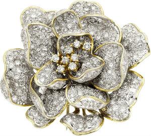 Diamond, Gold Brooch