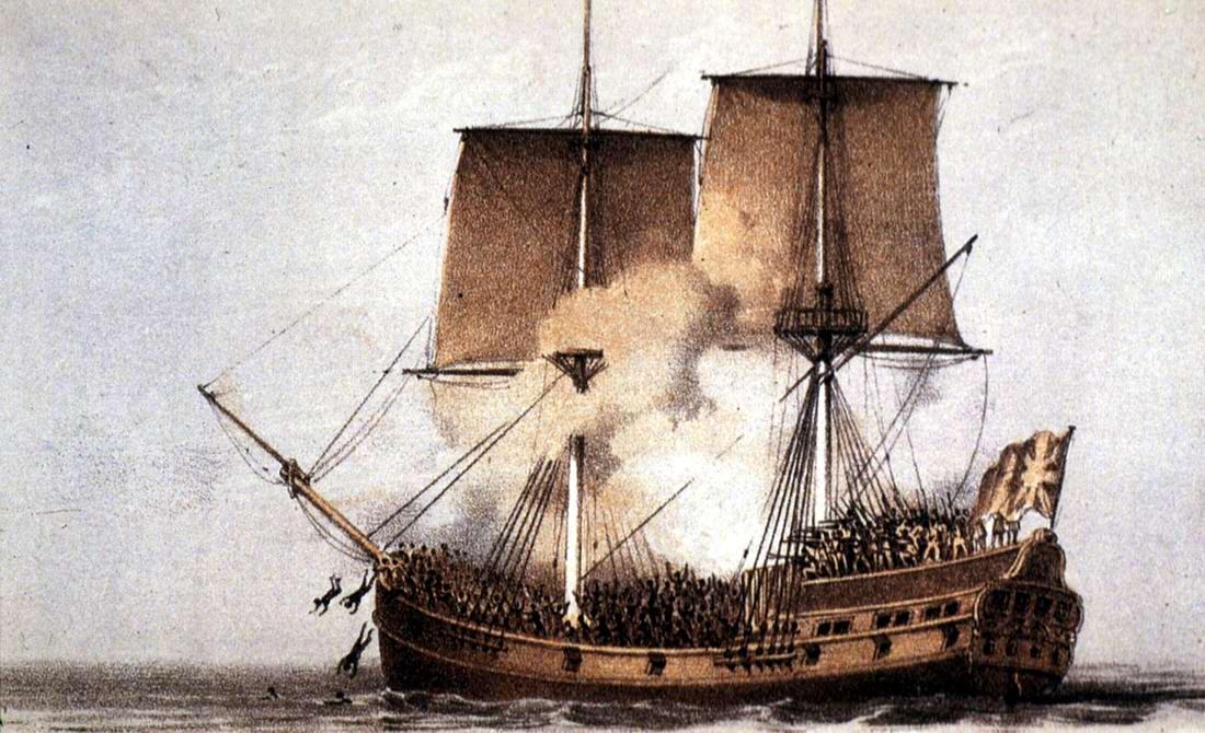 Бунт на борту судна для перевозки рабов у западного побережья Африки (1787 год)