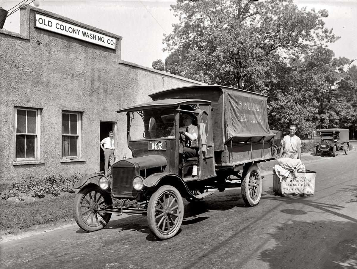 Специализированные транспортные средства начала 20-го века на снимках американских фотографов (46)