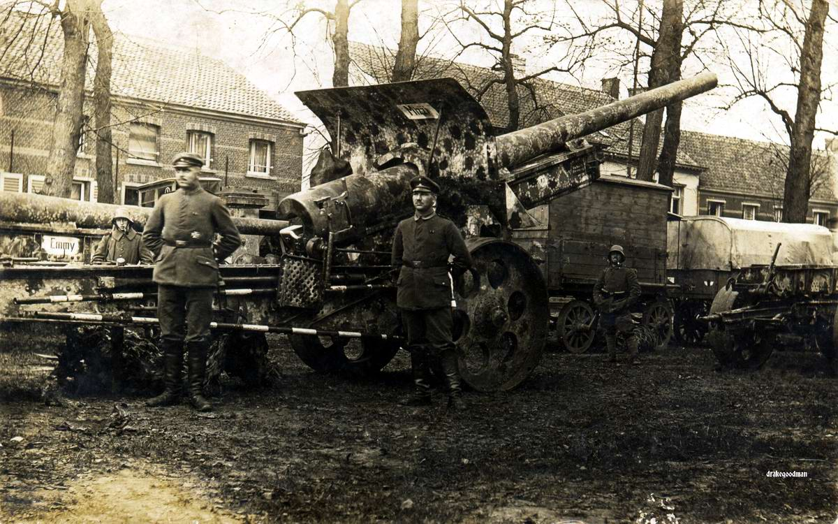 Орудие калибром 15 см в собранном виде (1918 год)