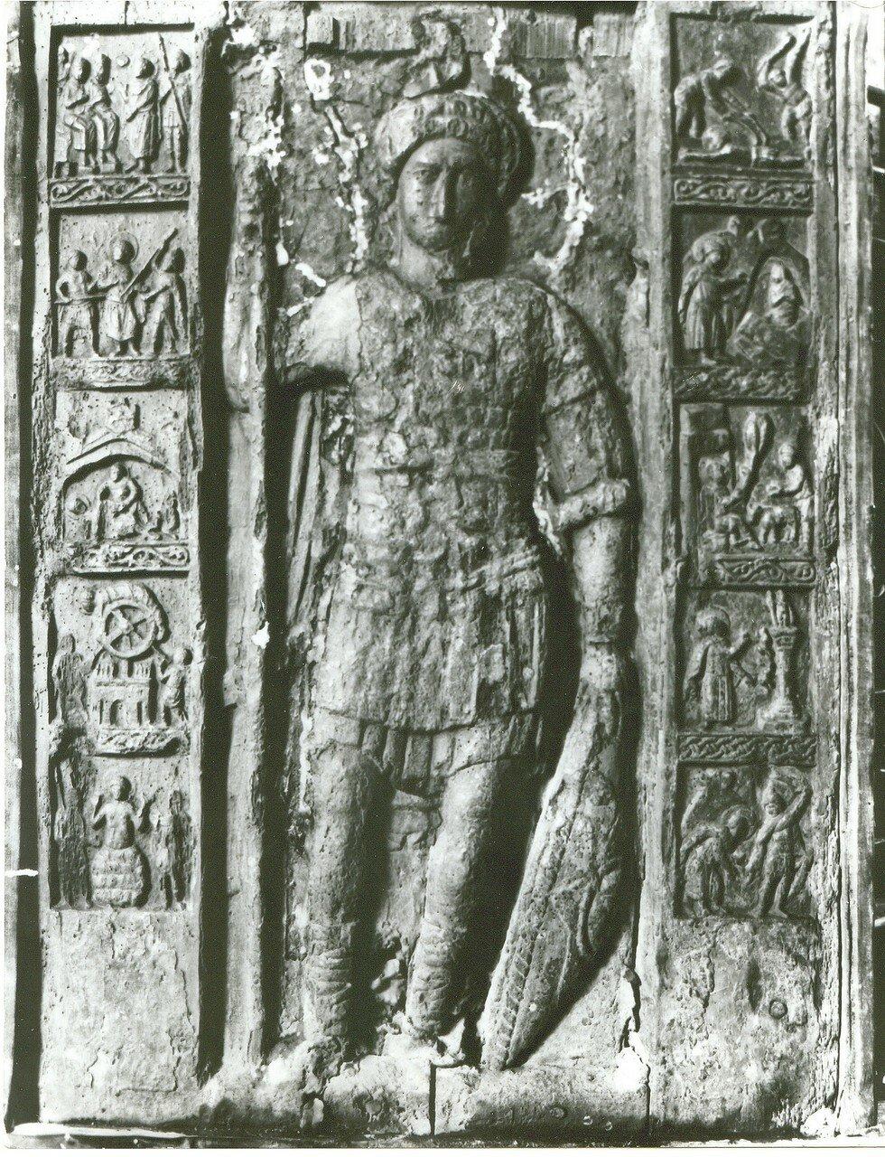 «Святой Георгий с житием». Деревянная икона византийской работы
