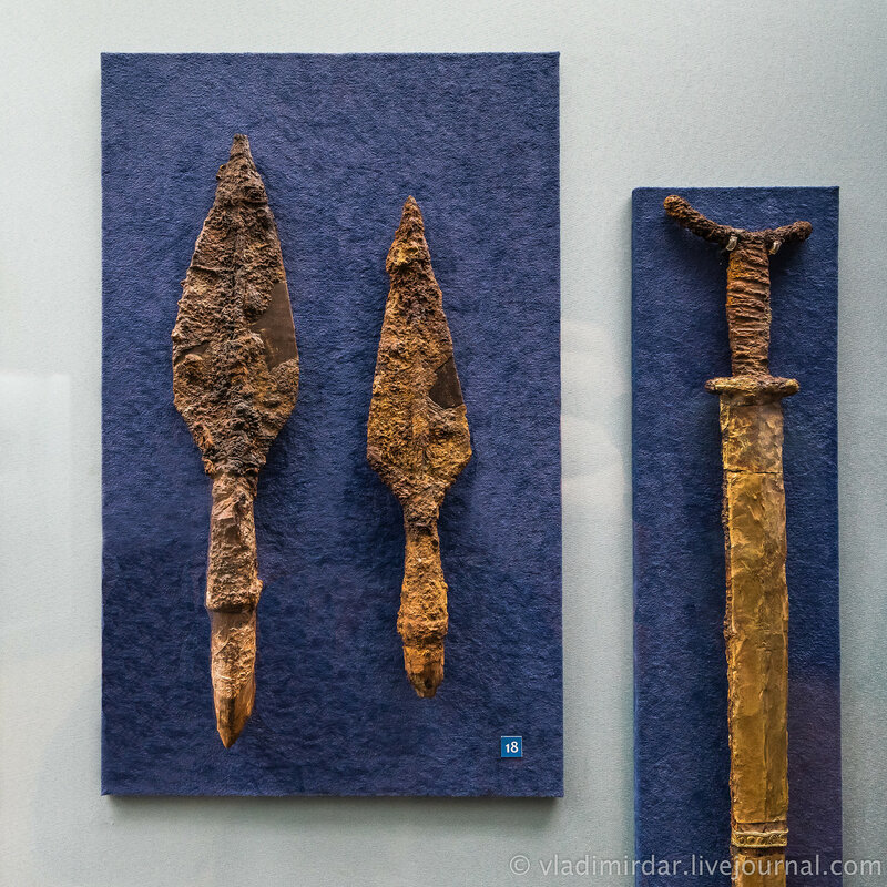 Наконечники копий. Железо, дерево. II в. до н.э.